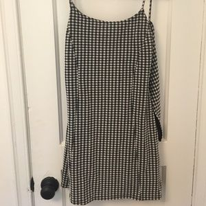 NWOT Topshop Gingham Dress with Back Tie